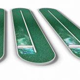 Algal spirulina open raceway pond