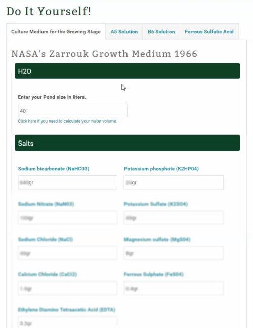 Nutrients Used In Nasa's Original Growth Medium