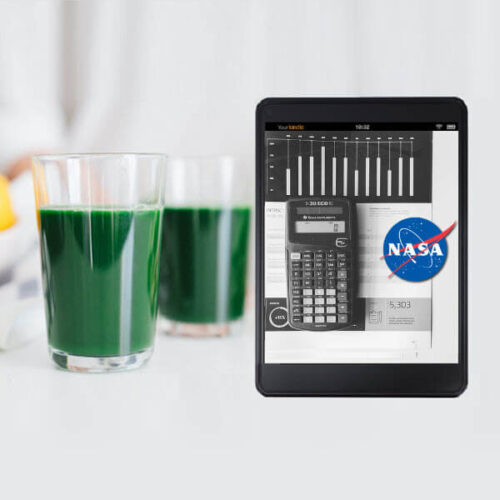 NASA spirulina cultivation formula guidebook and calculator