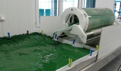 commercial spirulina harvesting machine