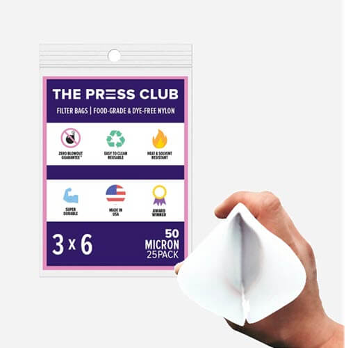 "Spirulina Harvesting Filter Bags | Premium Nylon Press Filters | 50 Micron | 3"" x 6"" | 50 Pack"