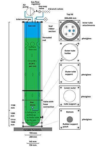 photobioreactor for spirulina cultivation