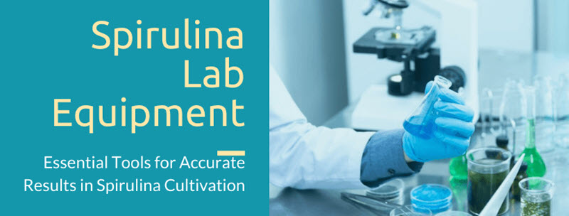 Spirulina lab equipment