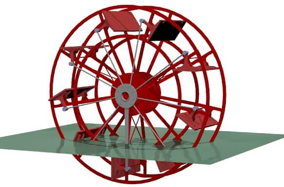 Spirulina paddle wheel
